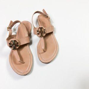 Tory Burch Gold Logo Sandals 5.5